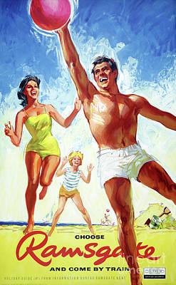 Painting - England Ramsgate Restored Vintage Travel Poster by Carsten Reisinger