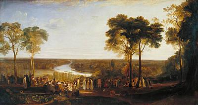 Celebration Painting - England, Richmond Hill, On The Prince Regent's Birthday by JMW Turner