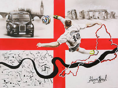 Wayne Rooney Painting - England by Shawn Morrel
