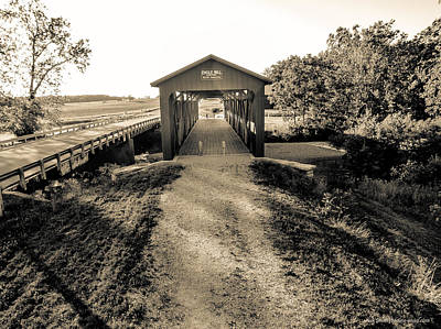 Engle Mill Covered Bridge Art Print