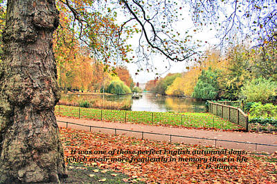 Photograph - English Autumn Day by Gordon Elwell