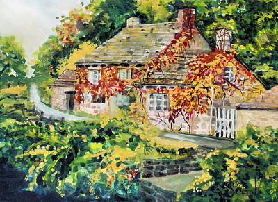 Mary Sonya Conti Painting - English Autumn by Mary Sonya  Conti