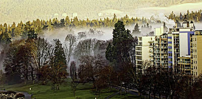 Photograph - English Bay Fog by Sheldon Bilsker
