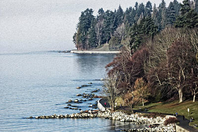 Photograph - English Bay Shore by Sheldon Bilsker