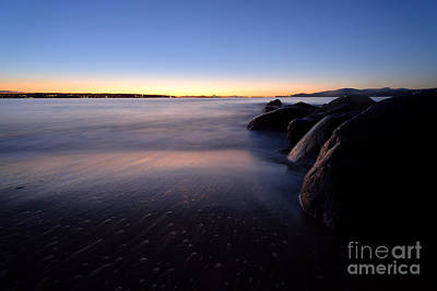 Photograph - English Bay Sunset At Third Beach by Terry Elniski