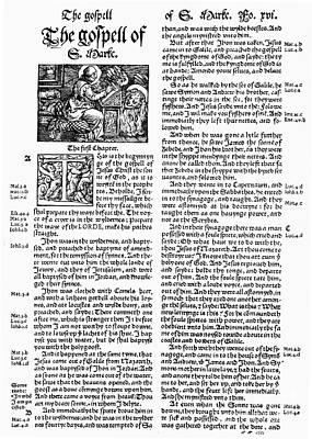 English Bible, 1535 Art Print by Granger