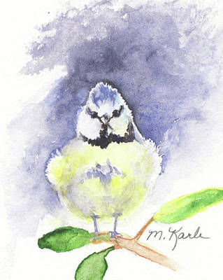 Painting - English Blue Tit by Marsha Karle