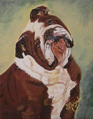 English Bull Dog Painting - English Bull Dog  by Brenda Morgado