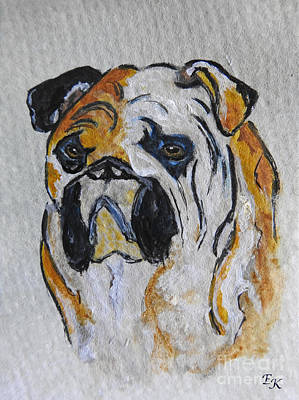 Painting - English Bull Dog by Ella Kaye Dickey