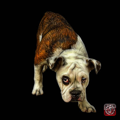 Painting - English Bulldog Dog Art - 1368 - Bb by James Ahn