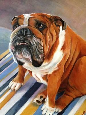 Painting - English Bulldog by FayBecca Designs