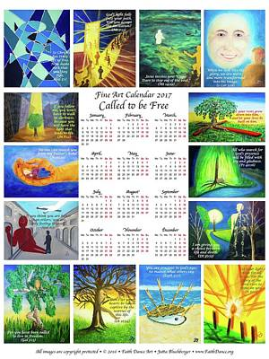 Painting - English Calendar by Jutta B