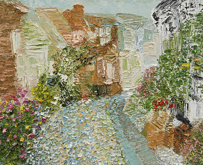 English Cobblestone Art Print by Tara Leigh Rose