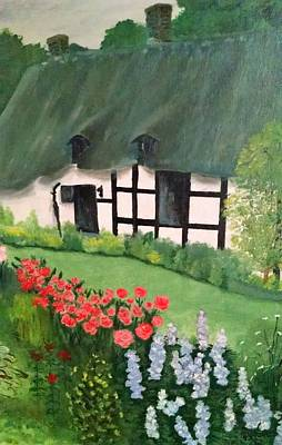 English Cottage Original by Connie Young