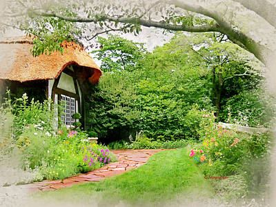 Charming Cottage Digital Art - English Cottage by George  Voyajolu