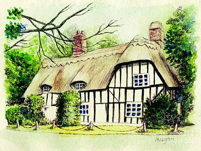 Painting - English Cottage In Cambridgshire by Morgan Fitzsimons