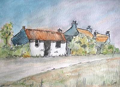 Wall Art - Painting - English Cottage by Lisa Cini