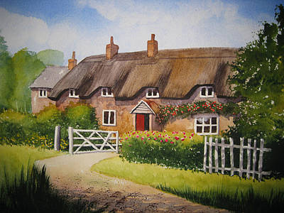 English Cottage Original by Shirley Braithwaite Hunt
