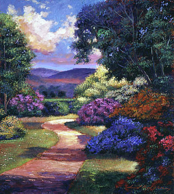 Impressionism Paintings -  English Country Garden by David Lloyd Glover