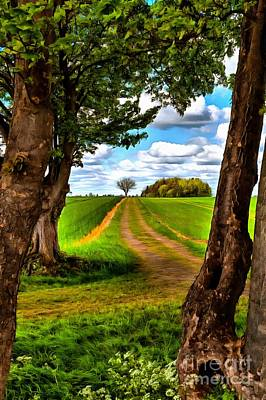 Photograph - English Country Lane by Mick Flynn