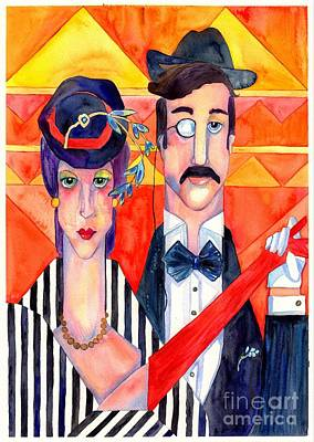 Panorama Painting - English Couple by Suzann's Art