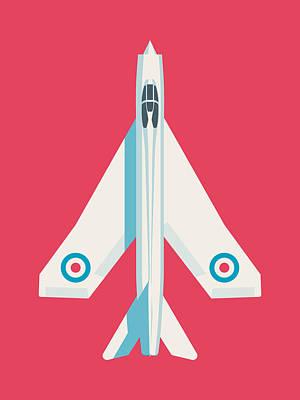 Rolls Royce Digital Art - English Electric Lightning Fighter Jet Aircraft - Crimson by Ivan Krpan