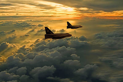 Photograph - English Electric Lightning Sunset Flight by Ken Brannen