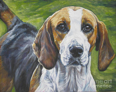 Painting - English Foxhound by Lee Ann Shepard