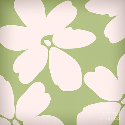 White Flowers Painting - English Garden Floral Pattern by Mindy Sommers