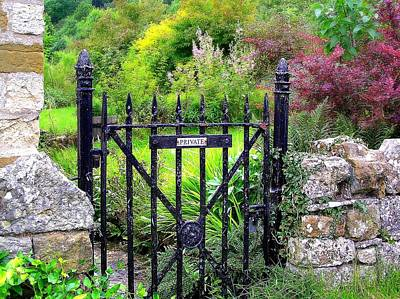 Photograph - English Garden Gate by Jen White
