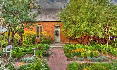 Hollyhock Digital Art - English Garden by TL  Mair
