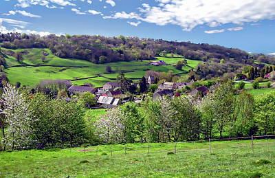 Photograph - English Landscape View by Anthony Dezenzio