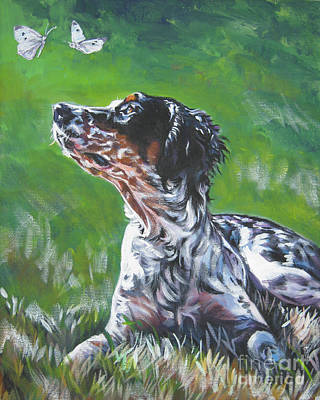 Painting - English Llewellin Setter by Lee Ann Shepard