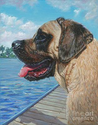 English Mastiff Art Print by Danielle Perry