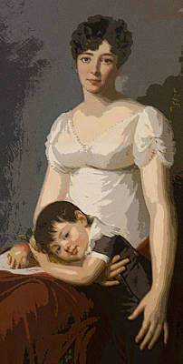 Kim Fearheiley Photography Royalty Free Images - English Mother with Young Boy Royalty-Free Image by Carl Purcell