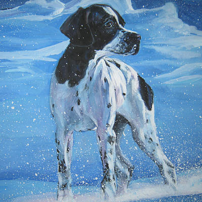 Painting - English Pointer In Snow by Lee Ann Shepard