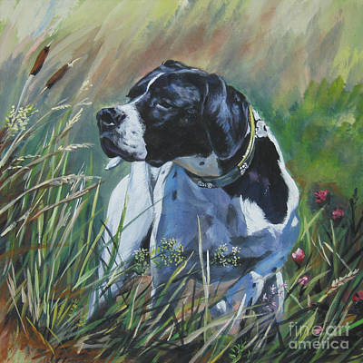 Painting - English Pointer In The Field by Lee Ann Shepard