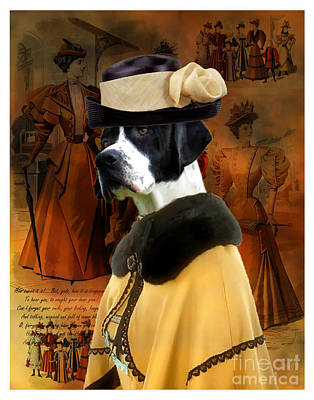 Painting - English Pointer - Pointer Art Canvas Print - The Dame by Sandra Sij