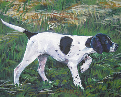 Painting - English Pointer Puppy by Lee Ann Shepard