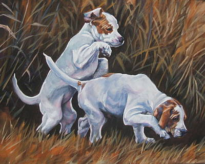 Painting - English Pointer Pups by Lee Ann Shepard