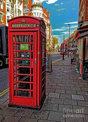 Photograph - Old Traditional  English Red Phone Box  by Doc Braham