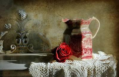 English Rose Water  Art Print