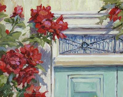 Painting - English Roses by L Diane Johnson