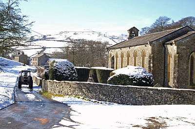 Soap Suds - English rural church in winter by David Birchall