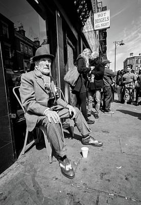 Photograph - English Senior Wearing Spats In Brick Lane London by John Williams
