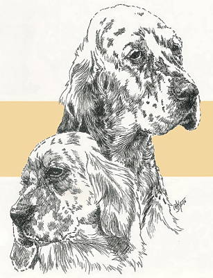 Mixed Media - English Setter And Pup by Barbara Keith