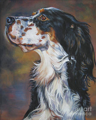 English Setter Painting - English Setter Tricolor by Lee Ann Shepard