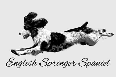 English Springer Spaniel Art Print by Ann Lauwers