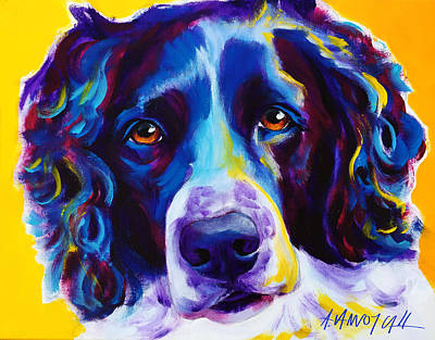 Dawgart Painting - English Springer Spaniel - Emma by Alicia VanNoy Call