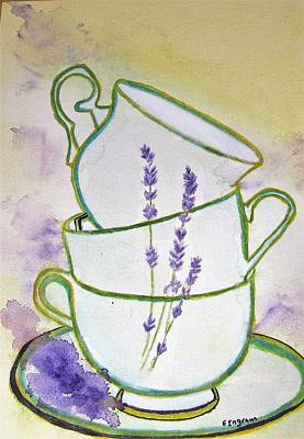Painting - English Tea by Elvira Ingram